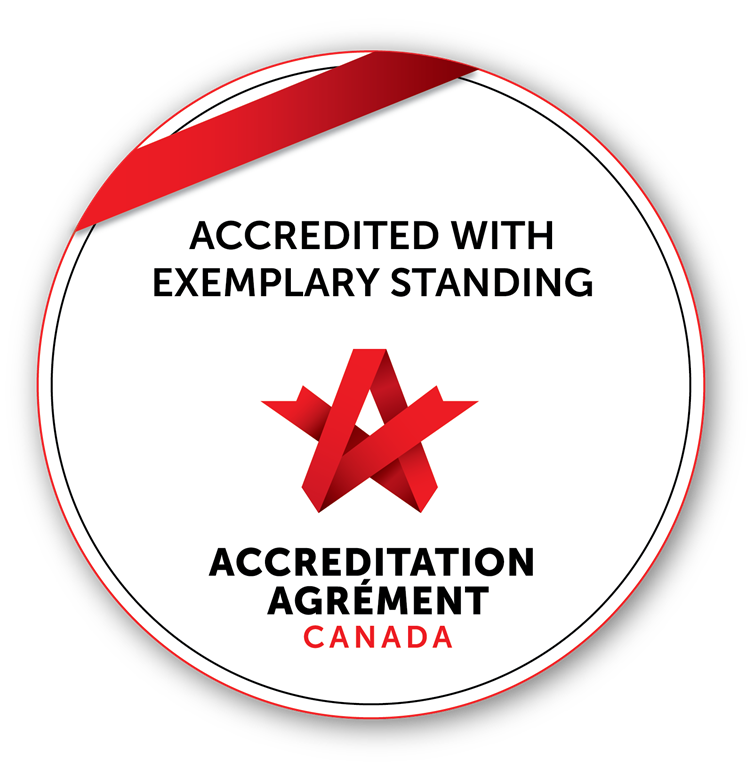 Accreditation Canada - Accredited with Exemplary Standing seal